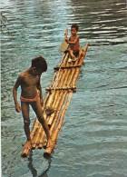 Micronesia Yap Young Native Boys With Raft - Micronesia