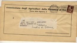 Raccomandata Da Ferrara A Firenze 3.7.1946 Affrancata Con N. 552 L. 2 Bruno Lilla Democratica - 6. 1946-.. Repubblica
