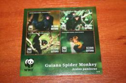 WWF  Guyana 2014  Rare Mini-block  Fauna - Stamps
