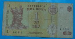 MOLDAVIA 1 LEU 1994, VF. - Moldavië
