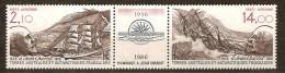 Terres Australes TAAF 1986 Yvertn° LP PA 93A *** MNH  Cote 8,40 Euro Bateaux Boten Ships - Poste Aérienne