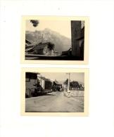 2 Photographies Originales Village De SAINT ST DALMAS VALDEBLORE Alpes Maritimes 06420 Vers 1950 / Sign Coca Cola - Lugares