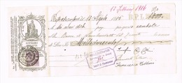 1915 - CAMBIALE BANCA DI SAN BENEDETTO DEL TRONTO (AP)  - RIF.J - Bills Of Exchange