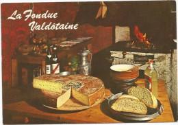 O340 Valle D'Aosta - Fontina Valdostana Fondue Valdotaine - Ricetta Recipe Recette / Non Viaggiata - Ricette Di Cucina