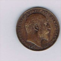 Royaume-Uni - 1903 UK Great Britain England-Bronze - Monnaies