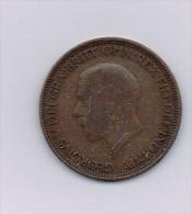 Royaume-Uni - GEORGE V HALF PENNY 1931 UK Great Britain England-Bronze - Monnaies