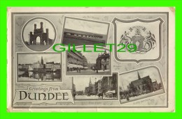 DUNDEE, SCOTLAND - GREETINGS FRON DUNDEE - 8 MULTIVIEWS - RAPHAEL TUCK & SONS - GLOSSE SERIES - - Ecosse