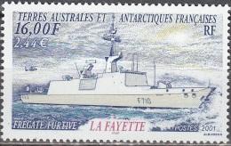 TAAF 2001 Yvert 289 Neuf ** Cote (2015) 7.50 Euro Frégate Furtive La Fayette - Neufs