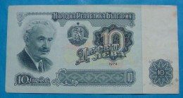 BULGARIA 10 LEVA 1974 XF+. - Bulgarien