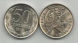 Chile 50 Centavos 1975. UNC - Chile