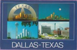 Usa °° Texas - Dallas Multivues 4 Photos 9x14 - écrite 1986 ° T-P - Dallas