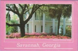 Usa °° Georgie - Savannah Historic Colonial Home Superbement Fleuri écrite 1986 ° T-P - Savannah