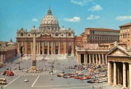 Roma - Basilica Di San Pietro (animata Con Auto E Autobus) - Chiese