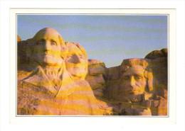 Etats Unis: Mount Rushmore, Les Tetes De Quatre Presidents, Heads Of Four Presidents (15-3862) - Mount Rushmore