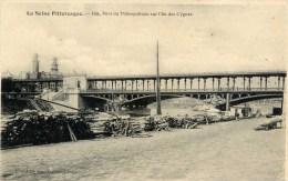 PARIS La Seine Pittoresque Pont Du Métropolitain (Aérien ) Sur L´Ile Des Cygnes,piles De Bois - Metro, Stations