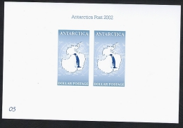 Antarctica Post 2002 First Issue On Numbered Presentation Card. - New Zealand