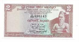 Ceylon 2 Rupees 12/05/1972 - Sri Lanka