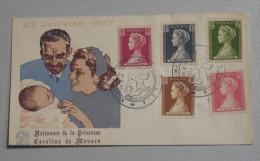FDC  11/05/1957 Naissance De La Princesse Caroline De Monaco - FDC