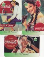 3 Prépayées UK Royaume Uni, Coca-Cola Old Theme £10, By PPS Ltd - Royaume-Uni