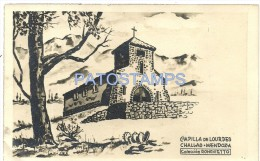 24445 ARGENTINA MENDOZA CHALLAO CAPILLA DE LOURDES NO POSTAL POSTCARD - Old Paper