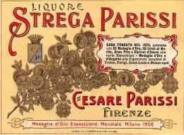 """04501 """"FIRENZE - STREGA PARISSI - LIQUORE - CESARE PARISSI"""" ETICHETTA ORIGINALE - Altri"""