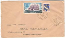 FRANCIA - France - 1971 - 0,10 + Quatre Mats Cap Hornier Antoinette - Viaggiata Da Saverne Per Grünhain, Germany DDR - 1961-....