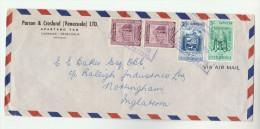 1954 Air Mail VENEZUELA  COVER  Multi Stamps HORSE Etc To GB - Venezuela