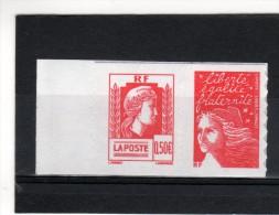 P3716 Marianne De LUQUET  N° 3716 + 3419a   Paire Issue Du Carnet  C 1512 - 1997-04 Marianne Du 14 Juillet