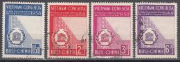 Viet Nam --south   Scott No.  92-95    Used     1958 - Vietnam