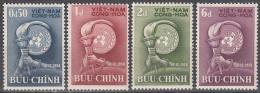 Viet Nam --south   Scott No.  96-99   Unused Hinged     1958 - Vietnam