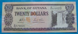 GUYANA 20 DOLLARS ND 1996, UNC - Guyana