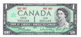 1967 Canada Centennial Commemorative One Dollar Uncirculated Banknote - Canada
