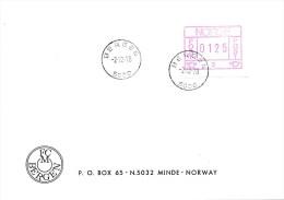 ATM -  Norwegen -  ETB 02.12.78  BERGEN - F C Moldenhauer Umschalg! - ATM/Frama Labels
