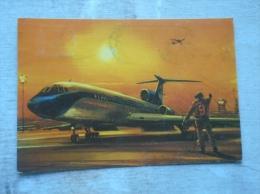 Airplane  Avion  TUpoljev TU-154 (1973)   MALÉV  Hungarian Airline D134331 - 1946-....: Era Moderna