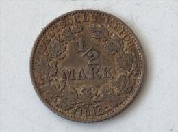 ALLEMAGNE 1/2 MARK 1915 E ARGENT SILVER Germany Deutschland - [ 2] 1871-1918: Deutsches Kaiserreich