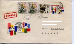 Entier Postale,service Philatelique POFIS Tchecoslovaquie,chateau Hradcany Prague,chateau Bratislava,fleurs,chat,lettre - Post