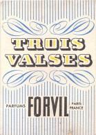 """¤¤  -  Carte Parfumée  -  """" TROIS VALSE """" De FORVILLE  -  Parfum   -  ¤¤ - Cartes Parfumées"""