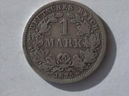ALLEMAGNE 1 MARK 1875 F ARGENT SILVER Germany Deutschland Ein - [ 2] 1871-1918 : Imperio Alemán