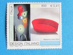 ITALIA USATI 2001 - DESIGN ITALIANO 2^ EMISSIONE GHINI LAVIANI - SASSONE 2559 - RIF. G 1924 LUSSO - 2001-10: Usati