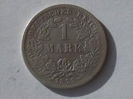 ALLEMAGNE 1 MARK 1875 G ARGENT SILVER Germany Deutschland Ein - [ 2] 1871-1918: Deutsches Kaiserreich