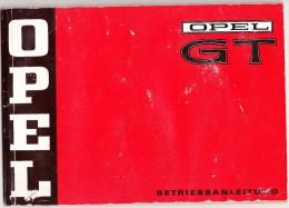 OPEL GT - BETRIEBSANLEITUNG / HANDLEIDING / USER GUIDE / MODE D'EMPLOI - Shop-Manuals