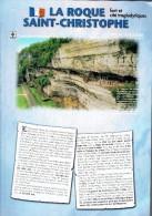 Ancien Dépliant La Roque Saint-Christophe Fort Et Cité Préhistorique Peyzac-le-Moustier (8 Pages, Format A4) Vers 2000 - Dépliants Touristiques