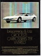BRISSONNEAU & LOTZ - Carrossiers, Nantes (F.) - Production OPEL GT ( See 4 Scans) - Auto's