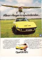 OPEL GT  / GTJ - ´Alleen Vliegen Is Opwindender...'   & FIRESTONE CAVALLINO Radiaalband - Auto's