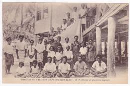 Mission Des Salomon Septentrionales - Révérend Père Chaize Et Quelques Baptisés - Salomon