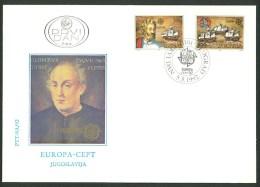 Jugoslawien 1992  FDC 2534-2535 - 1992
