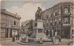 CPA ROUMANIE ROMANIA GALATI Monumentul C. Negri Hôtel Splendid Carte Colorisée 1919 - Rumania