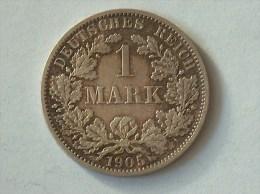ALLEMAGNE 1 MARK 1905 A ARGENT SILVER Germany Deutschland Ein - [ 2] 1871-1918: Deutsches Kaiserreich