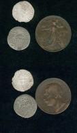 Lot   3  Monnaies,  Schilling 52,  Denier De Saint Louis  Et 10 C 1861-1911 - France