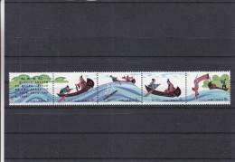 Chine - Fables - Yvert 2396 / 2402 ** - MNH - Bande De 5 - Valeur Michel 25 Euros - 1949 - ... People's Republic